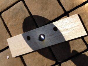 虫メガネ+太陽で実験