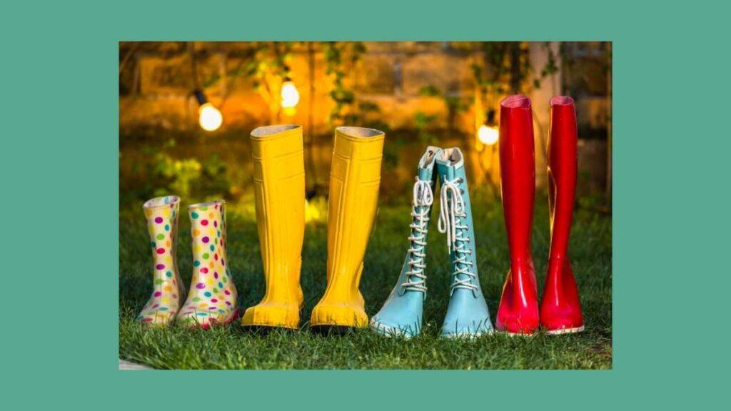 レインブーツ・長靴のタイプ別の特徴